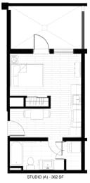 Floor Plan  O2 Apartments Studio A Floor Plan