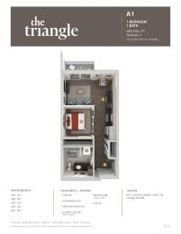 Triangle Redmond WA A1 1 Bedroom 560 SQ FT