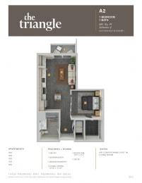 Triangle Redmond WA A2 1 Bedroom 681 SQ FT