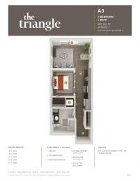 Triangle Redmond WA A3 1 Bedroom 604 SQ FT