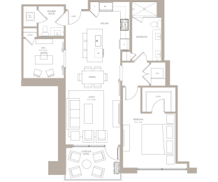 Floor Plan Maple I (W/Den)