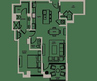 Floor Plan Maple II (W/Den)