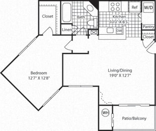 A5A Floor Plan at Westerly at Worldgate, Herndon, Virginia