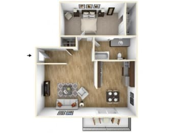 Floor Plan 1x1_900