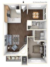Floor Plan 1X1B