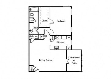 the canna floorplan with one bedroom