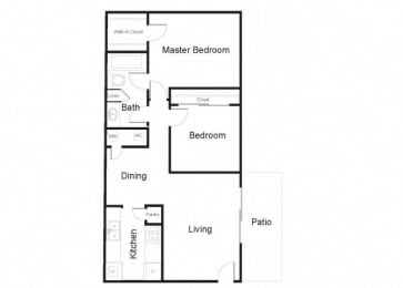 the ficus two bedroom floorplan