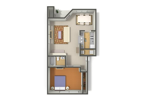 Floor Plan  Floor Plan 1 Bdr at Dolce by the Lakes, Las Vegas, 89117