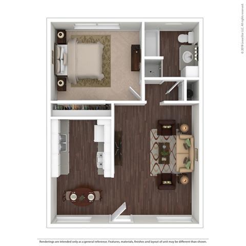 Floor Plan  Casa De Jerardo 1 Bed Floor Plan