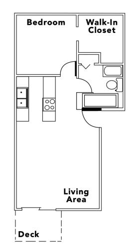 Floor Plan  Countryside   1x1 750 square feet