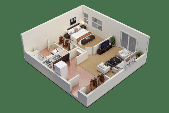 Floor Plan  1/1 C