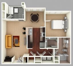 Floor Plan  Hilton Floor Plan at The Residence at Marina Bay, Irmo, 29063