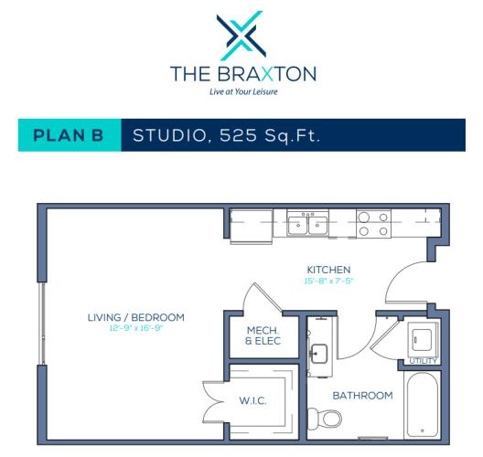 Floor Plan  Plan B: Studio