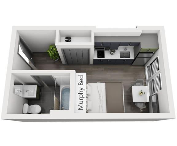 Floor Plan  Studio Cropped Floor Plan Image