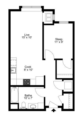 Floor Plan  The Verona Floor Plan at One Glenn Place, Fitchburg, WI, 53711