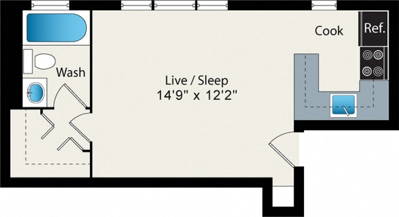 Floor Plan  Studio Medium Floor Plan