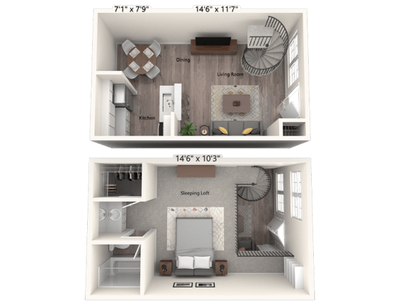 Floor Plan  Catalina (Townhome)
