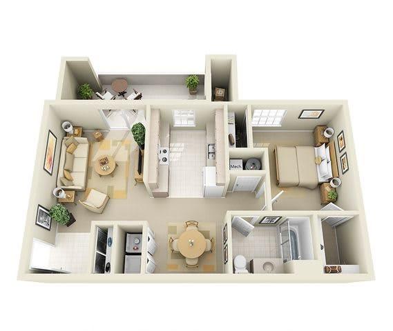 Floor Plan  Spacious apartments for rent in Albuquerque