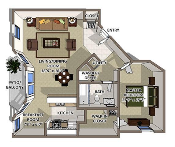 Floor Plan  Abaco floor plan at The Villages of Banyan Grove Apartments in Boynton Beach