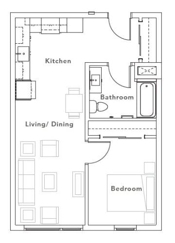 Floor Plan  Viewfinder Apartments_Floorplan_ 1 Bedroom