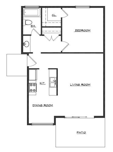 Floor Plan  The Northview Apartments San Rafael CA 1 Bed 1 Bath