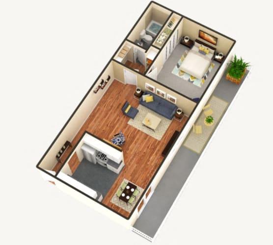 Floor Plan  The Summit 1 bedroom 1 bathroom floor plan