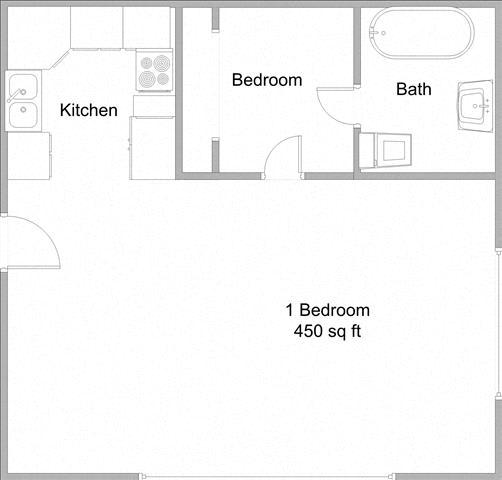 Floor Plan  Millennium Apartments Junior 1 Bedroom Floor Plan