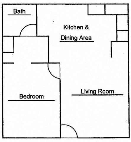 Floor Plan  Hilo Val Hala 1Bed 1Bath Floor Plan