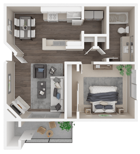 Floor Plan  One bedroom floor plan