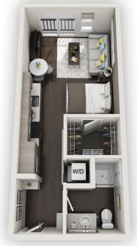 Floor Plan  Studios S1 available at Fusion 355 in Broomfield, CO