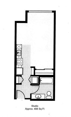 Floor Plan  525 Studio