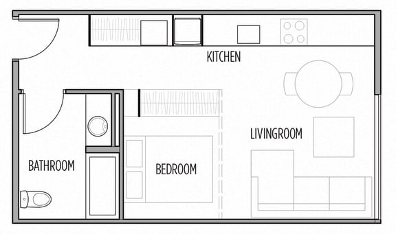 Floor Plan  Studio Floor Plan  at Shelton Eastlake apartments in Seattle, Washington