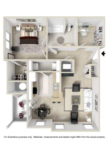 Floor Plan  One Bedroom Apartment Floor Plan