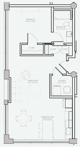Floor Plan  Lofts Unit D
