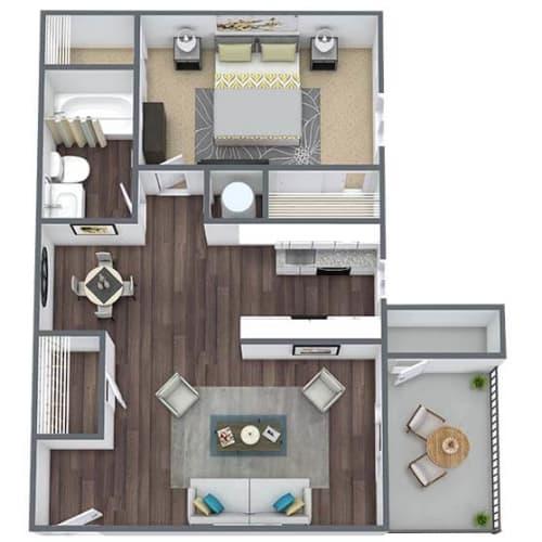 Floor Plan  1-bed, 1-bath floor plan, 720 SQFT