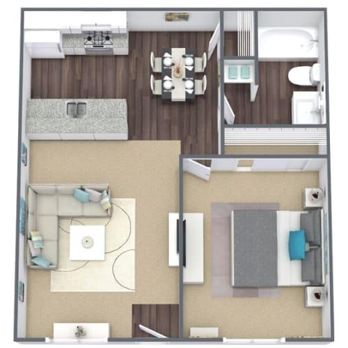 Floor Plan  Floor Plan A: 1 bed, 1 bath, 624 SQFT