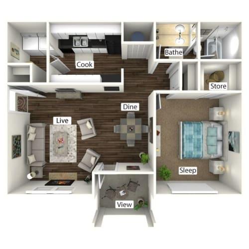 Floor Plan  Bungalow 3D Floor Plan