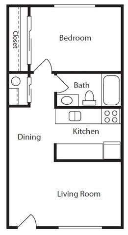 Floor Plan  Wisteria Walk Apartments 1 Bed 1 Bath Floor Plan