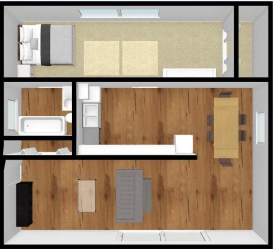 Floor Plan  Somerset Meadows Small One Bedroom One Bathroom Floor Plan