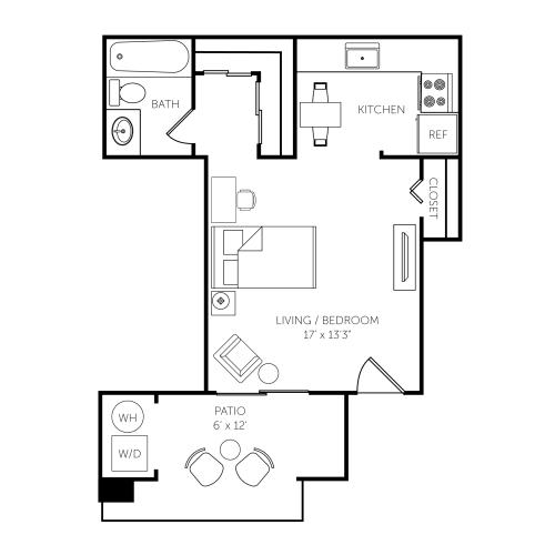 Floor Plan  El Paseo Apartments Floor Plan A