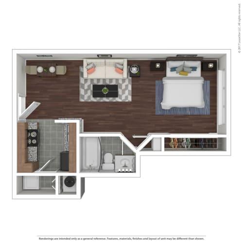 Floor Plan  The Urban Apartments E1 Floor Plan