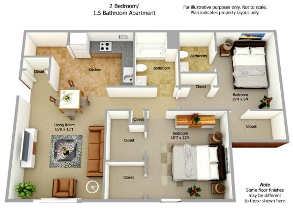 Floor Plan  Two Bed