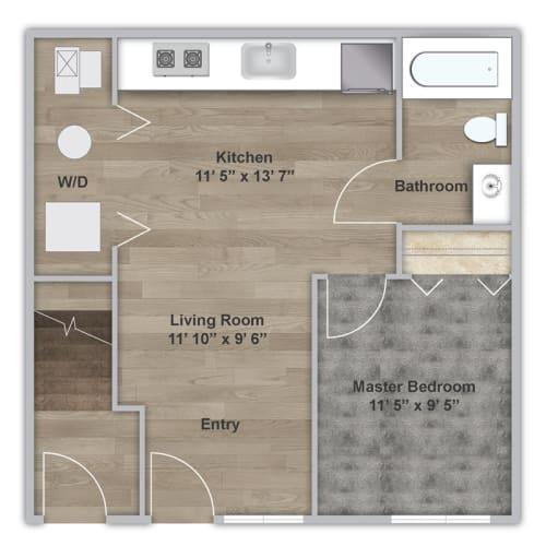Floor Plan  One Bedroom - First Floor