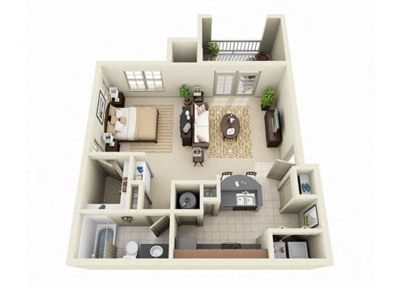 Floor Plan  1 Bedroom Apartments Near Me