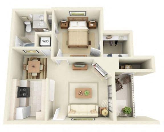 Floor Plan  1 Bedroom Apartments for Rent in Dallas TX 75254