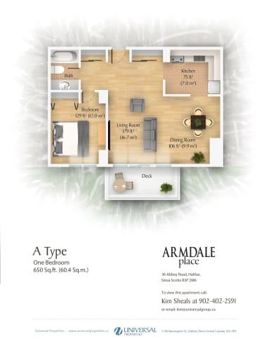 Floor Plan  1 Bedroom - Type A
