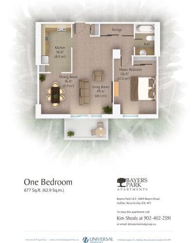 Floor Plan  1 Bedroom