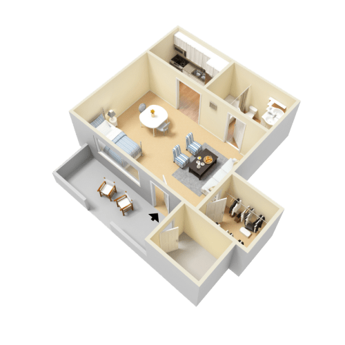 Floor Plan  Pullen Floor Plan at Clarion Crossing Apartments in West Raleigh NC