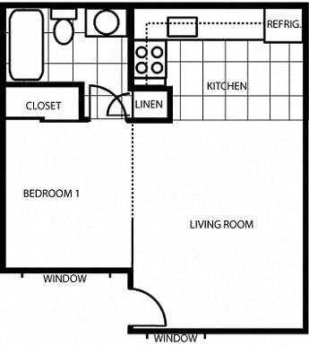 Floor Plan  Pine View Village Studio