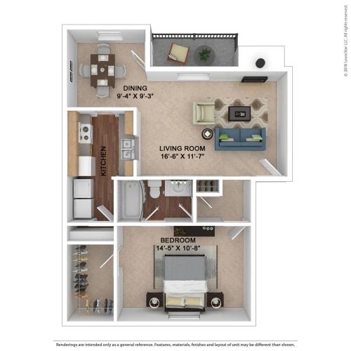 Floor Plan  The Ashe Floor Plan at Lake Johnson Mews, Raleigh, North Carolina
